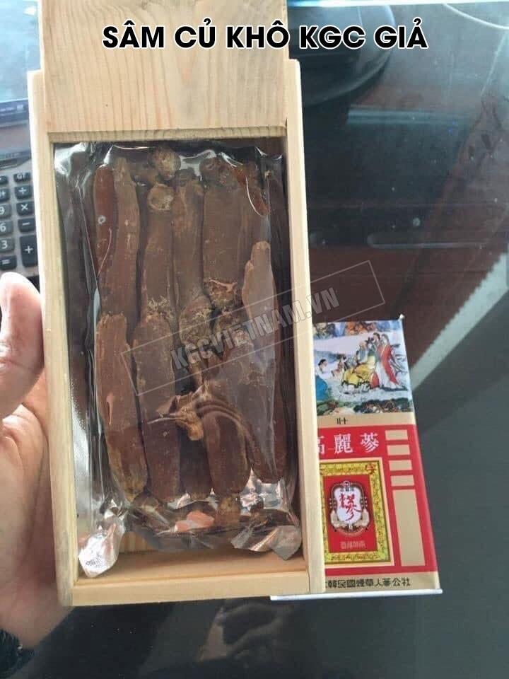 hình ảnh hồng sâm củ khô kgc giả được KGC Việt Nam sưu tầm trên facebook của đối tượng lừa đảo