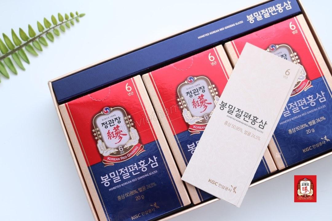 Hồng sâm lát tẩm mật ong Cheong Kwan Jang
