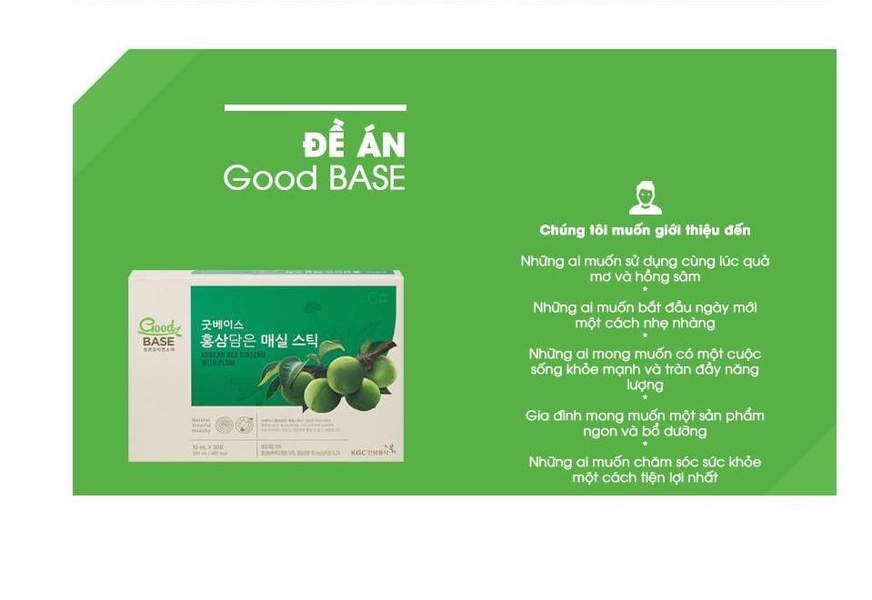 Nước hồng sâm GoodBase Mơ Xanh KGC Cheong Kwan Jang 10ml x 30 gói