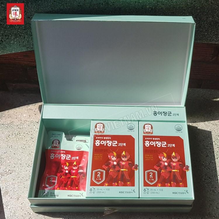 Hình ảnh bên trong của hộp nước hồng sâm trẻ em số 2 kgc