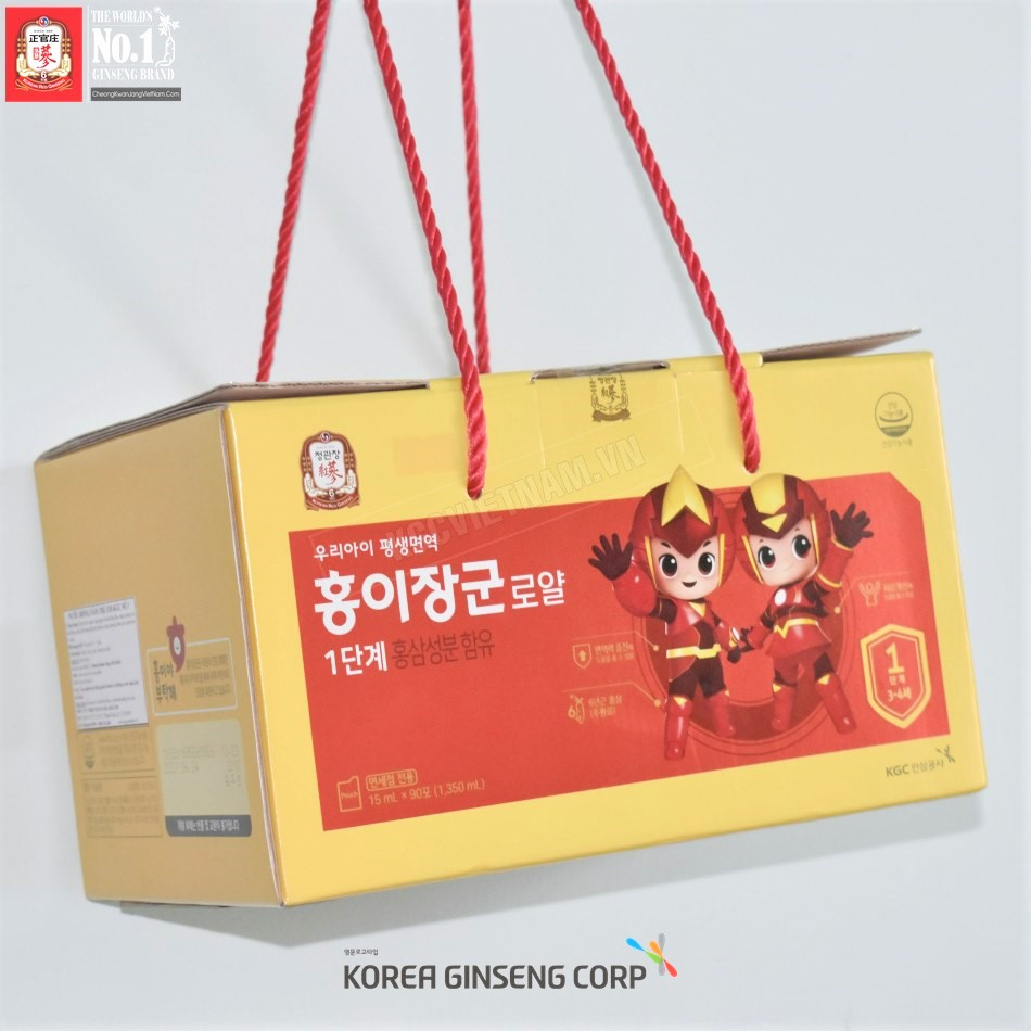 Nước hồng sâm trẻ em KGC Cheong Kwan Jang 15ml x 90 gói số 1