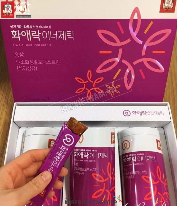 Thạch hồng sâm dành cho phụ nữ KGC Cheong Kwan Jang Hwa Ae Rak Innergetic 15g x 60 gói