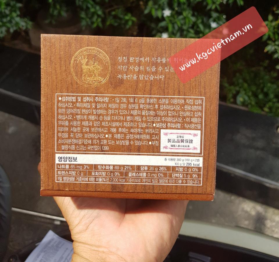 quà biếu sức khỏe, cao hồng sâm nhung hươu kgc - cheong kwan jang, kgc việt nam