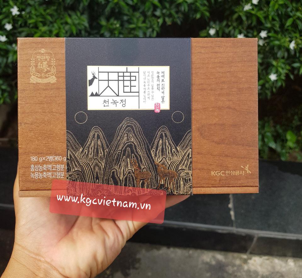 Cao hồng sâm nhung hươu KGC - Cheong Kwan Jang 180g x 2 lọ món quà biếu sức khỏe cho những đấng sinh thành