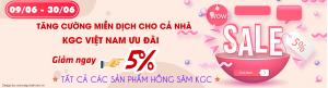 Ưu đãi lớn mùa dịch KGC Việt Nam giảm giá 10%