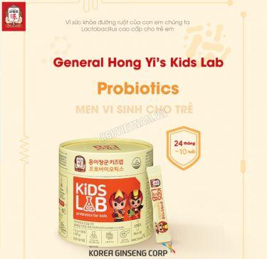 Men vi sinh cho trẻ KGC Cheong Kwan Jang General Hong Yi's Kids Lab Probiotics 1,5g x 90 gói
