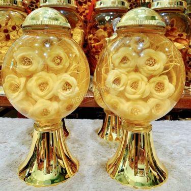 Bình rượu hoa sâm 5 lít bình dáng tròn số 40