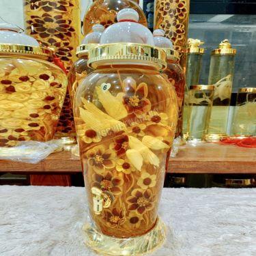 Bình rượu hoa sâm chim uyên ương hỷ tước bình 13,2 lít bình số 6