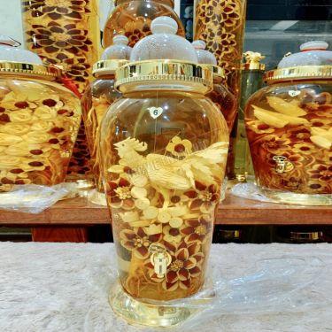 Bình rượu sâm điêu khắc thần kê đứng núi tiền bình 13,2 lít bình số 6